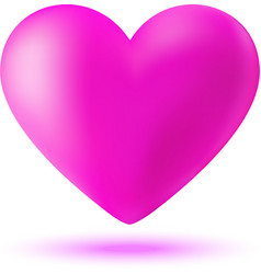 Pink 3d valentine heart vector
