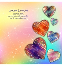 Love symbol light mesh abstract background with vector