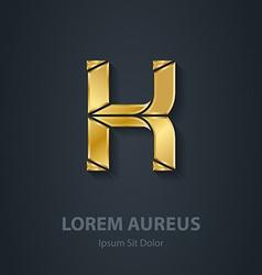 Letter K elegant gold font Template for company vector image