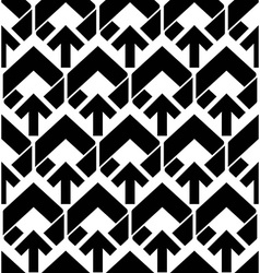 Seamless pattern with arrows black and white vector