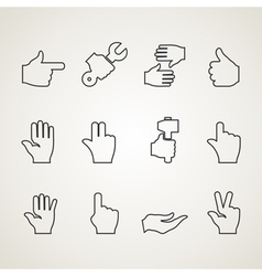 Hands outline vector