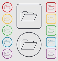 Document folder sign accounting binder symbol vector
