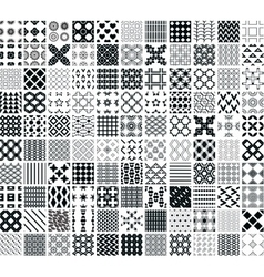 110 seamless geometric patterns vector image