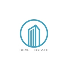 Real estate logo designs for business vector