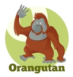 ABC Cartoon Orangutan2 vector image vector image