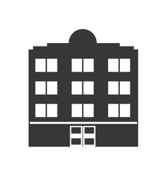 Building silhouette icon hotel design vector