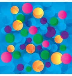 Colorful circles abstract light background vector image