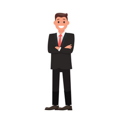 colorful flat design character businessman vector image