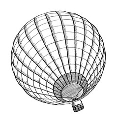 doodle of hot air balloon sketch up line eps 10 vector image vector image