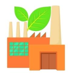 Eco factory icon cartoon style vector