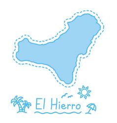 el hierro island map isolated cartography concept vector image vector image