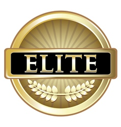 Elite gold label vector