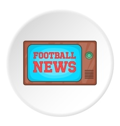 Football news on tv icon cartoon style vector