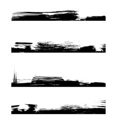 Four black frames line vector image vector image