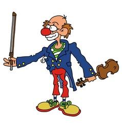 Funny clown vector image vector image