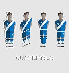 Guatemala soccer team sportswear template vector