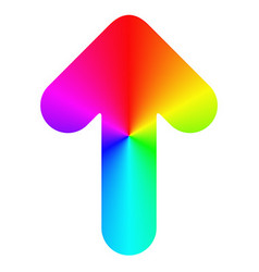 Isolated rounded rainbow arrow icon design vector