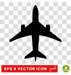 Jet Plane Eps Icon vector image