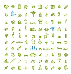 Medical icons for your design vector image vector image