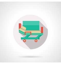 Medical stretcher bed flat color icon vector
