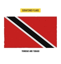 Scratched flag of trinidad and tobago vector