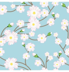 Seamless pattern with tree blossoming brunch vector image vector image