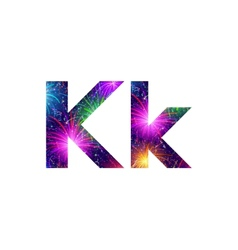 Set of letters firework K vector image vector image