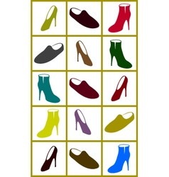 set shoes vector image vector image