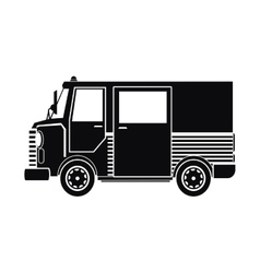 Silhouette truck van delivery shipping mail vector