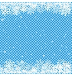 snow on blue transparent background vector image vector image