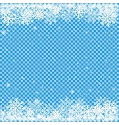 Snow on blue transparent background vector
