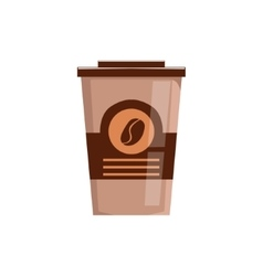Take away coffee in paper cup isolated icon vector