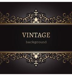 Vintage gold background vector