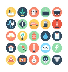 Energy and power colored icons 2 vector