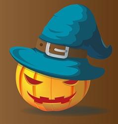 Pumpkins halloween character magic wizards vector