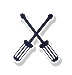 Isolated screwdriver tool design vector