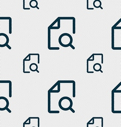 Search documents icon sign seamless pattern with vector