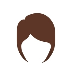Isolated hairstyle icon image vector