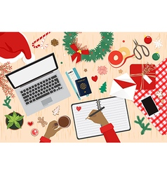 Preparing for holiday travel on chistmas vector