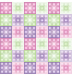 Geometric pattern with colored circles vector