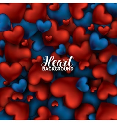 Red and blue heart valentines day card love vector