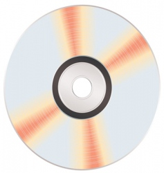 Shiny music cd vector