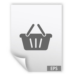 Store basket icon vector