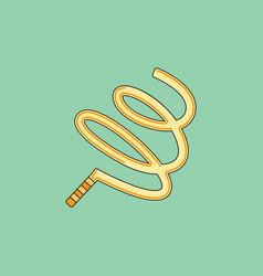 ribbon gymnastic gymnastics ribbon rhythmic vector image