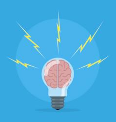 Brain storm concept vector