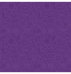 Thin holiday line halloween purple seamless vector
