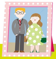 A close knit family vector image