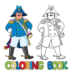 Strict general or officer coloring book vector