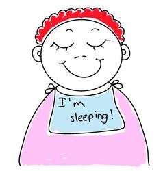 baby is sleeping vector image