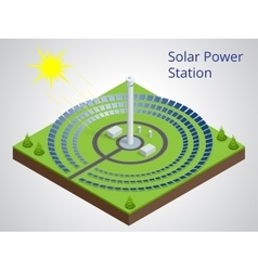 Isometric of a solar power vector